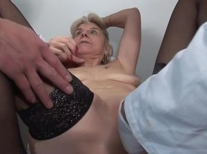 Mature anal fisting