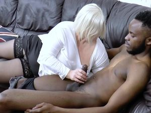 Blonde black dick