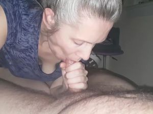 Cum in mouth blow job