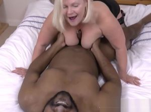 Big tits mature strip