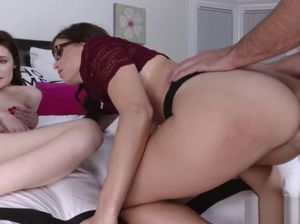 Mom helps daughter cum
