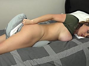 Mom naked in bed